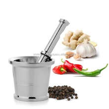 Shri Krishna International Stainless Steel Silver Mortar and Pestle With Stylish Design
