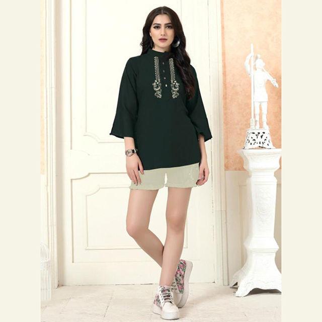 Abbigliamento Casual Del Nuovo Progettista Del Ricamo Lavoro Rayon <span class=keywords><strong>Breve</strong></span> Supera Collezione