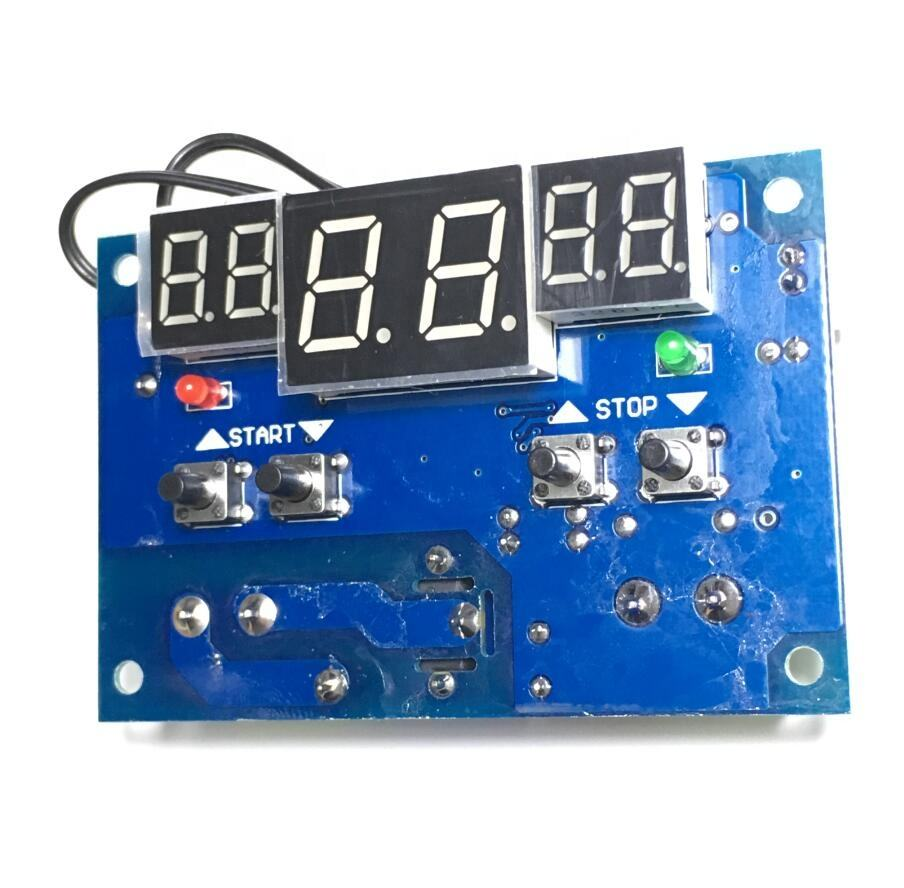 Taidacent LED Display Incubator Timer 12 Volts Heat Press Temperature Controller DC 12V Digital Temperature Controllers