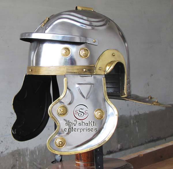 Antique Medeival Helmet Armour Helmet Imperial Helmet With Plume