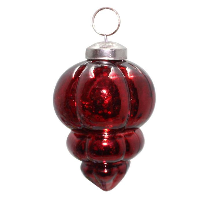 Antieke Rode Glas Fancy Kerst Decoratieve Opknoping Ornament