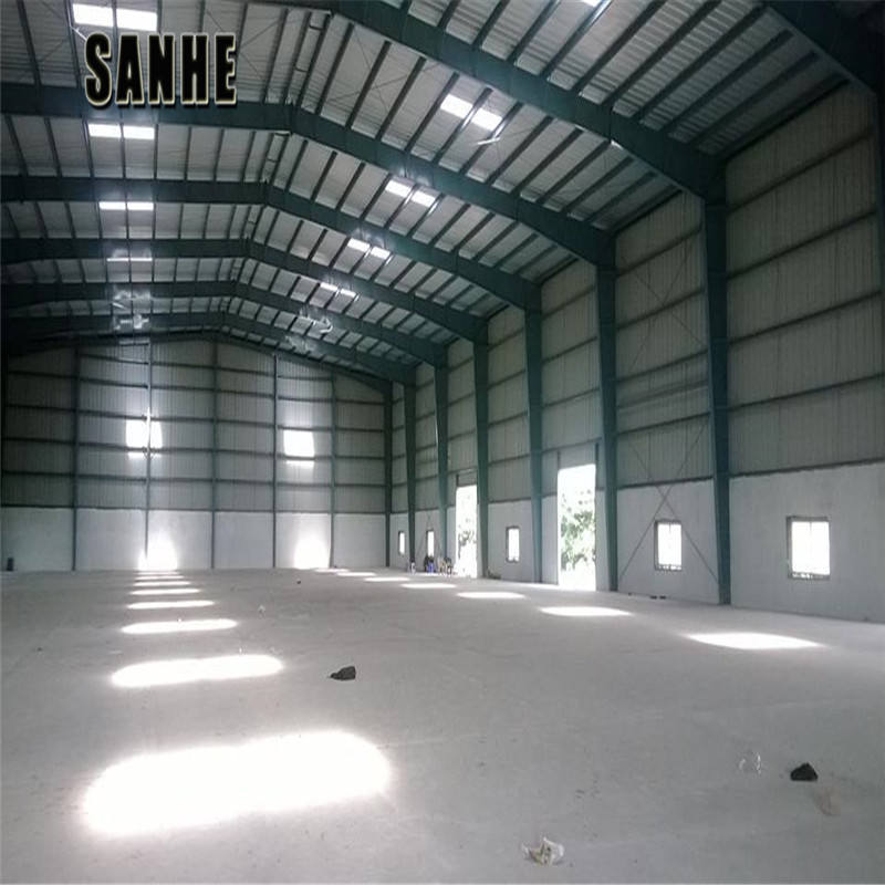 large span steel structure building prefabricated sandwich panel hall