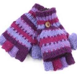 Hand knitted woolen Gloves & Mittens