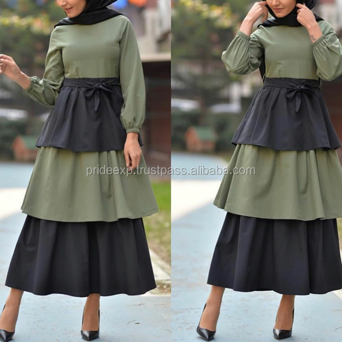 custom fabric-design muslim women semi formal long dress manufacturer best quality products