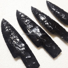 Black obsidian 7 inches knives : Wholesale black obsidian knifes