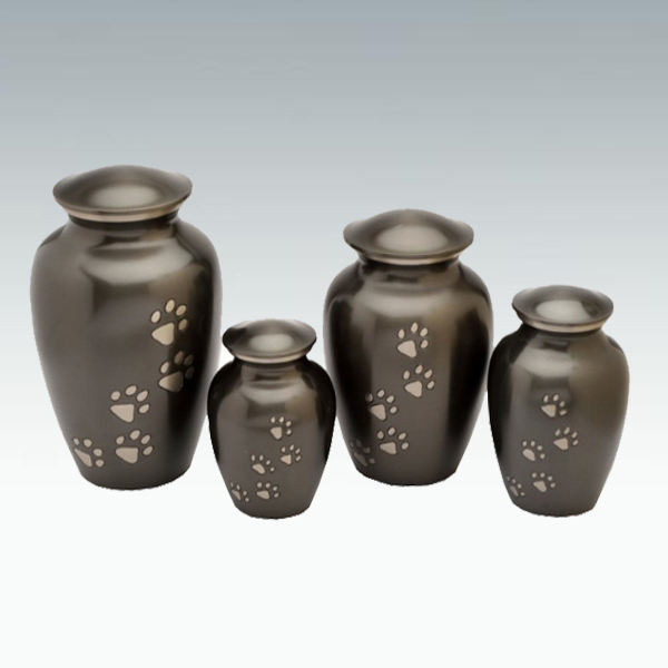 Classic Paw Pet Print Gray Adult Cremation Urn