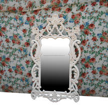 White Painted Furniture - Indonesia Wood Carving Mirror Bedroom Mahogany Furniture