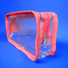 PVC SIDE SEWED BAG WITH ZIPPER