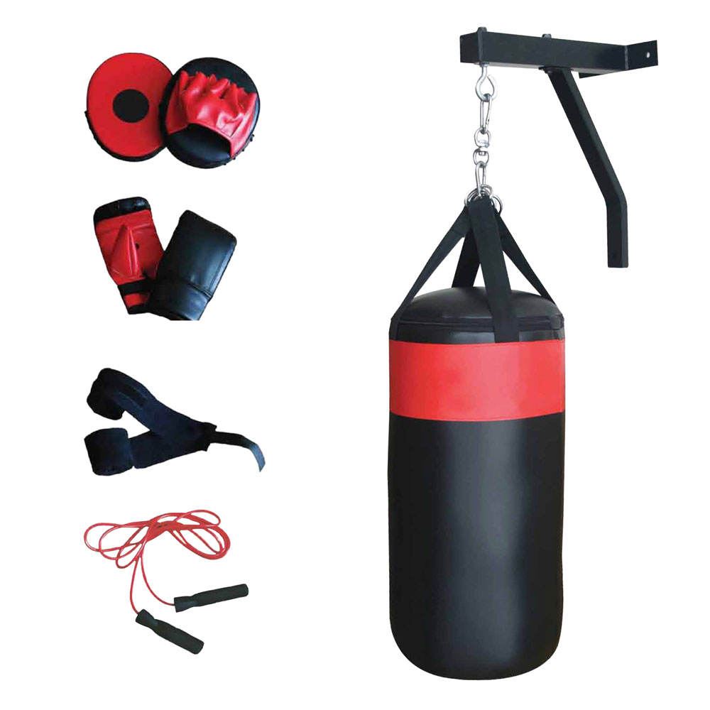 Heavy duty Nylox punching bag with chains for boxing training saco de boxeo