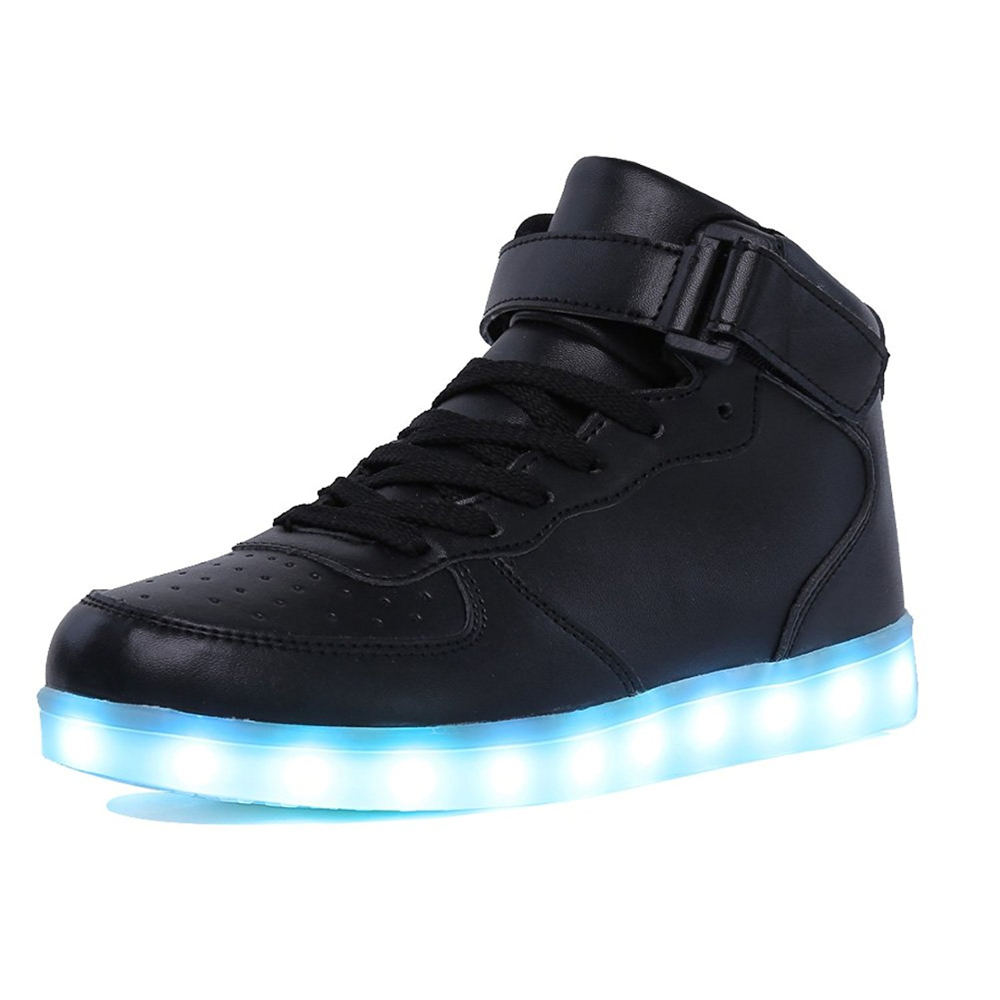 Adult&Kids Boy and Girl's High Top LED Light Up Shoes Glowing Sneakers Luminous Sole Sneakers for Women&Men