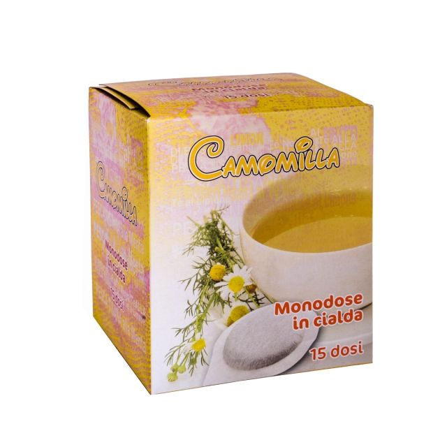 "Top quality Italian Herbal Chamomile Tea Infuser 15 Pods ""CRIMARK"""