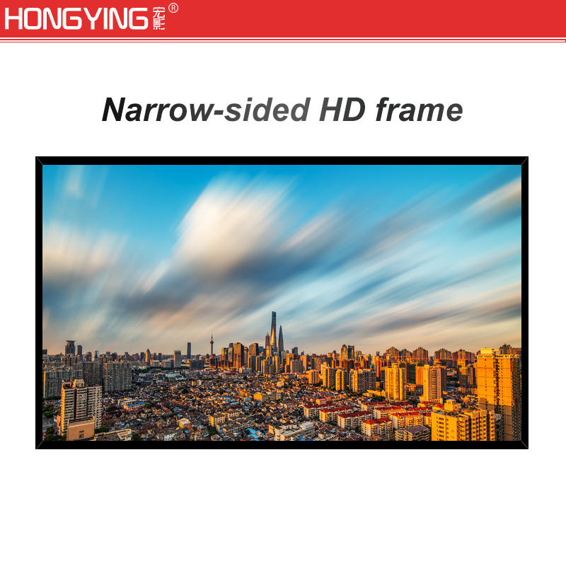 Ultra Short Throw Fixed Frame Projector Screen 3D Holographic Fabric Home Theater Frame Projection Screen
