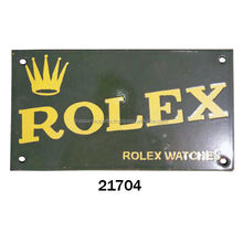 INDIAN CAST IRON WALL SIGN ROLEX WATCHES FOR SALE