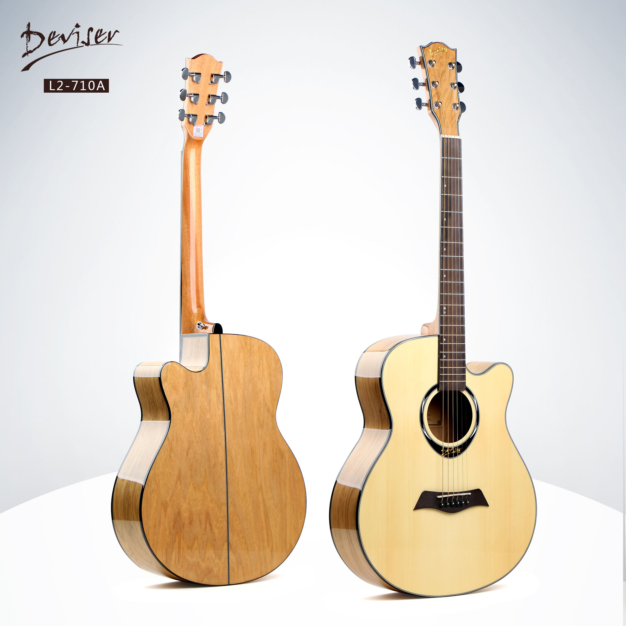 Deviser middle quality acoustic guitar solid spruce top catalpa back guitar factory direct