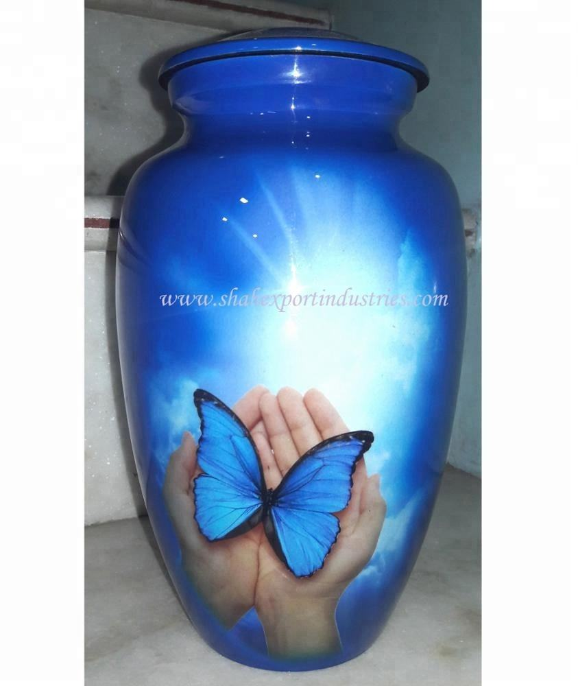 Butterfly Adult cremation Urn with High gloose Finish