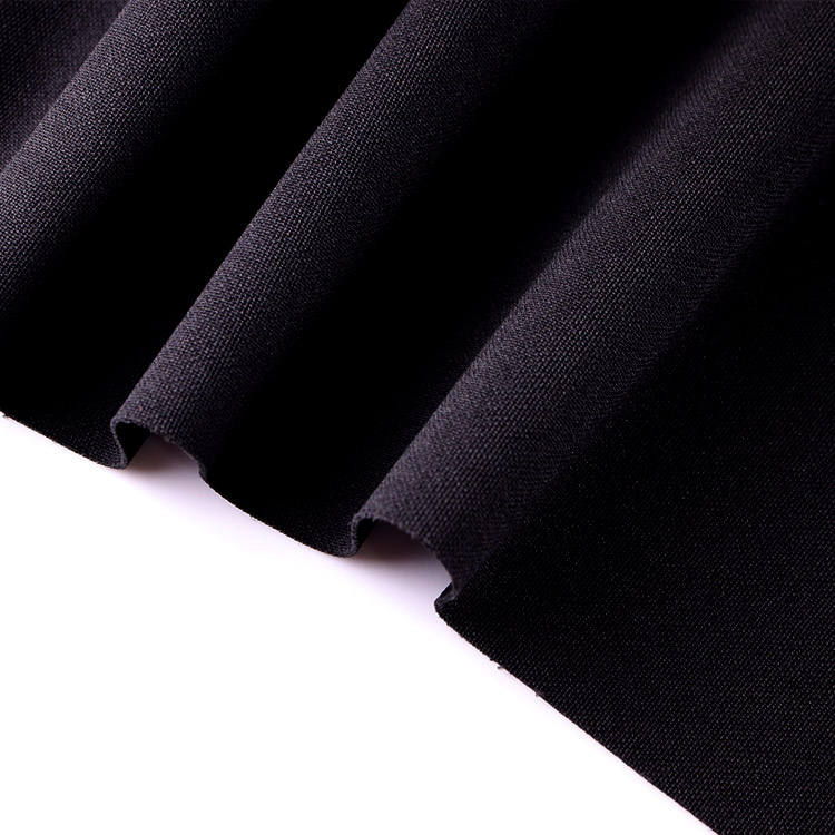 Black 100%Polyester T Health Elastic Moisture-Wicking breathable fabric