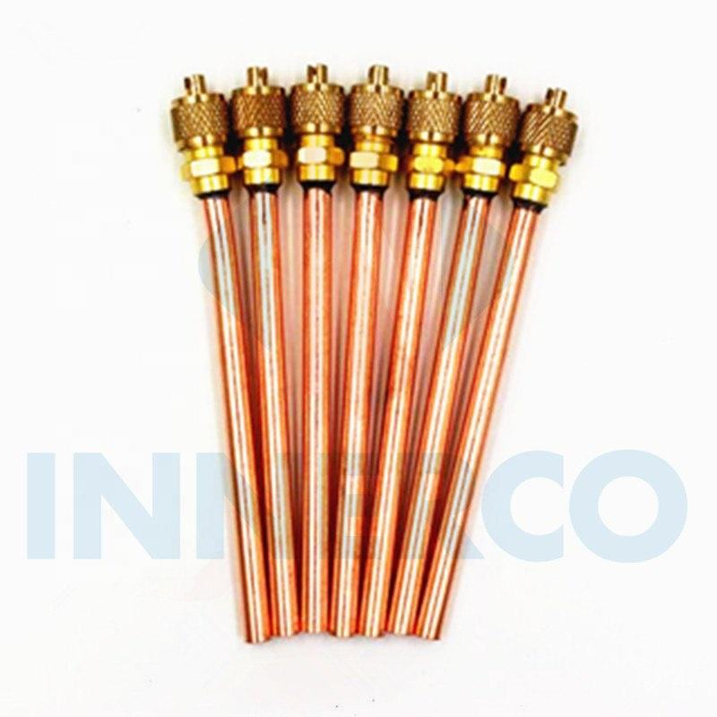 Air conditioner spare parts copper charging valve pin valve access valve