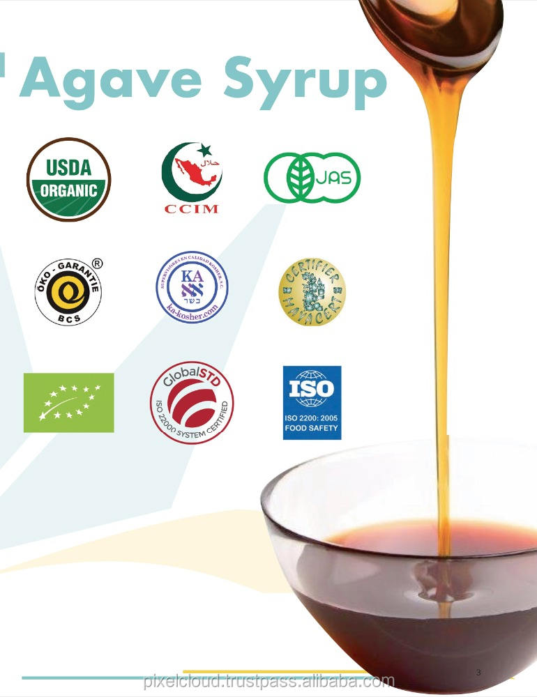 100% Natural Blue Agave Syrup from Mexico