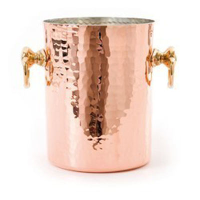 Hot Sale Gold Color Stainless Steel Material Leather Covered Ice bucket with tongWith Tongs