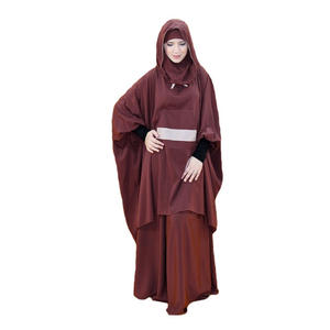 Modern Jilbab Hooded Casual Women Prayer Clothes two piece khimar