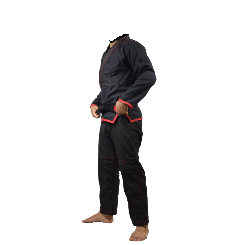 Judo Black Adults 10oz Trousers Double Knee Protection Gi Training Pants Bottoms