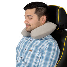 Car Neck Cushion Pillow Beige with memory foam