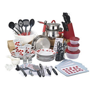 90-Pcs High-end Cookware Set, Home Starter Set With Cooking Pots and Kitchen Utensils
