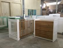 wood crib/wooden baby cot/baby set