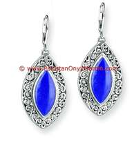 Pear Lapis Lazuli Drop/Dangle Fine Earrings