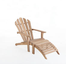 Teak Adirondack chair with footrest, KD