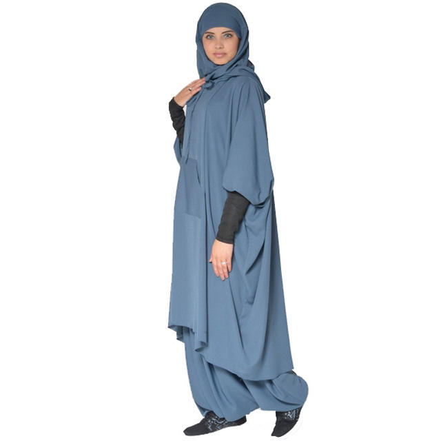 Muslim Modern Fashion Two Piece Long Jilbab
