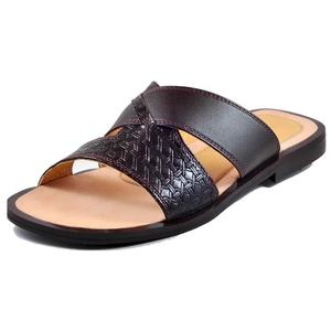 New!! 2019 High Quality African Arabic fashion in Genuine Leather Sandals for Men with 2 CM heel.