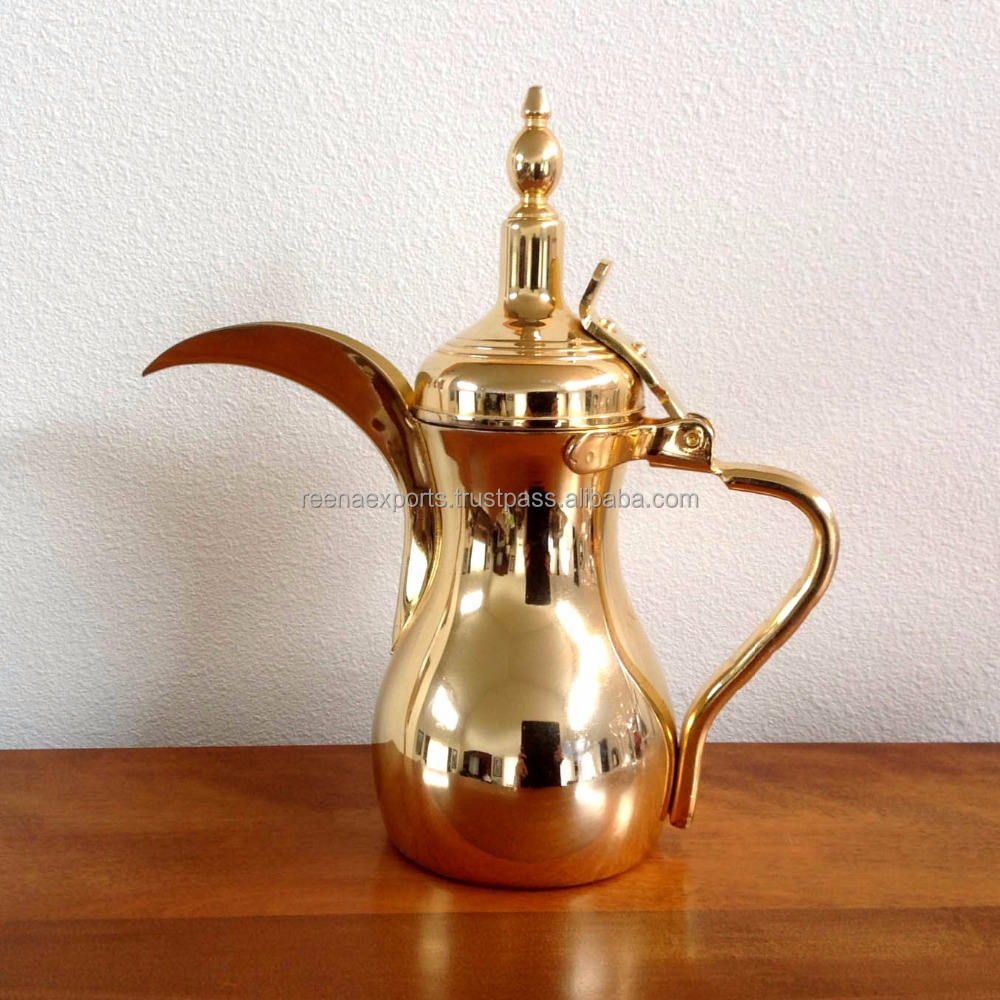 Arabisch Messing Dallah Thee Koffie Pot/Arabisch Dallah Fabrikant Uit India