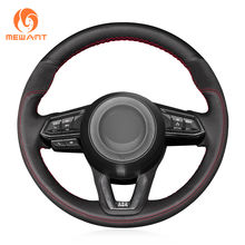 Unique Design Suede Leather Car Steering Wheel Cover For Mazda 3 Axela Atenza 6 2017 2018 2019