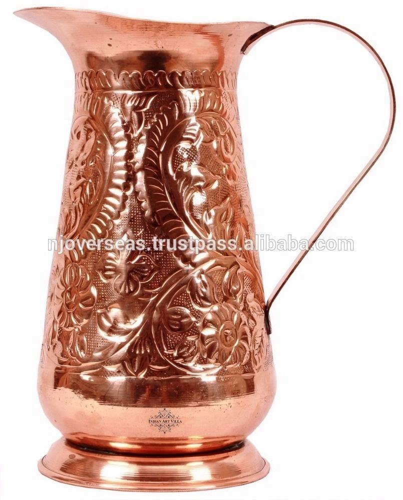 Antique Designer Pure Copper Water Jug