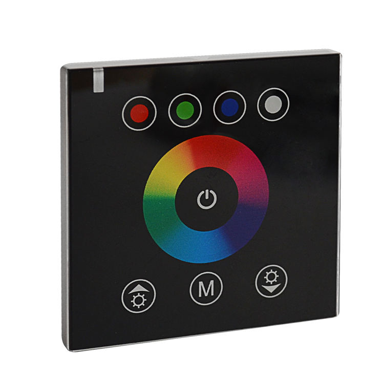 Glass Panel Wall Mounted RGBW LED Dimmer Touch LED Controller for LED Strips