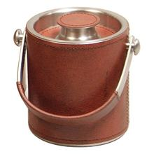 Stainless Steel Double Wall Ice Bucket with leather