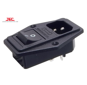 JEC Taiwan IEC60320 C14 Polysnap Inlet 10A 250 V AC Power Socket dengan Switch & Fuse Holder