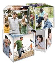 6 Sided 3.25x3.25 Inch Clear Acrylic Photo and Picture Frame Cube