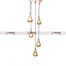 Woavin Industrial, Commercial Indoor, Brass Bulb Cluster Hangning Lamp