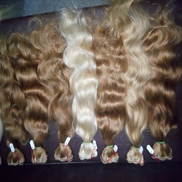 613 bleached Remy blonde human hair From India