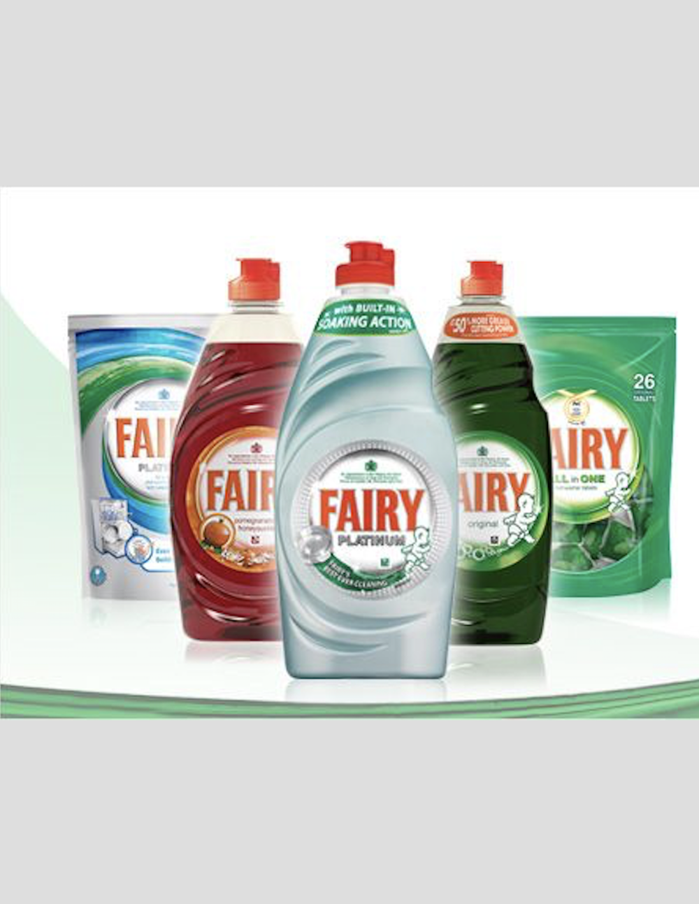 Fairy dishwashing liquid detergent PROCTER GAMBLE all format