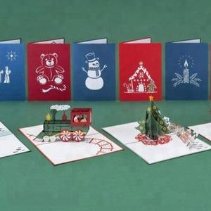 Happy New Year & Merry Christmas design 3d popup christmas cards from Vietnam