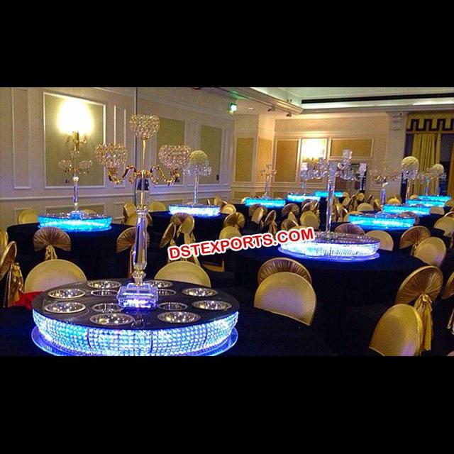 Crystal Lazy Susan For Wedding Table