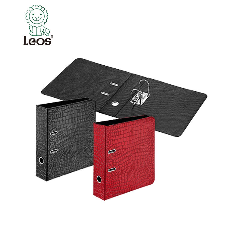 Office box file Leather A4 Lever Arch File Folder