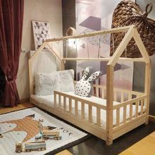 Bed house with barriers Bonnie Wooden bed for children Bedroom furniture cottage bed for teenagers wooden cottage bed
