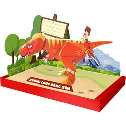 Vietnam toy product 3D paper model DIY puzzle moving dinosaur paper toy