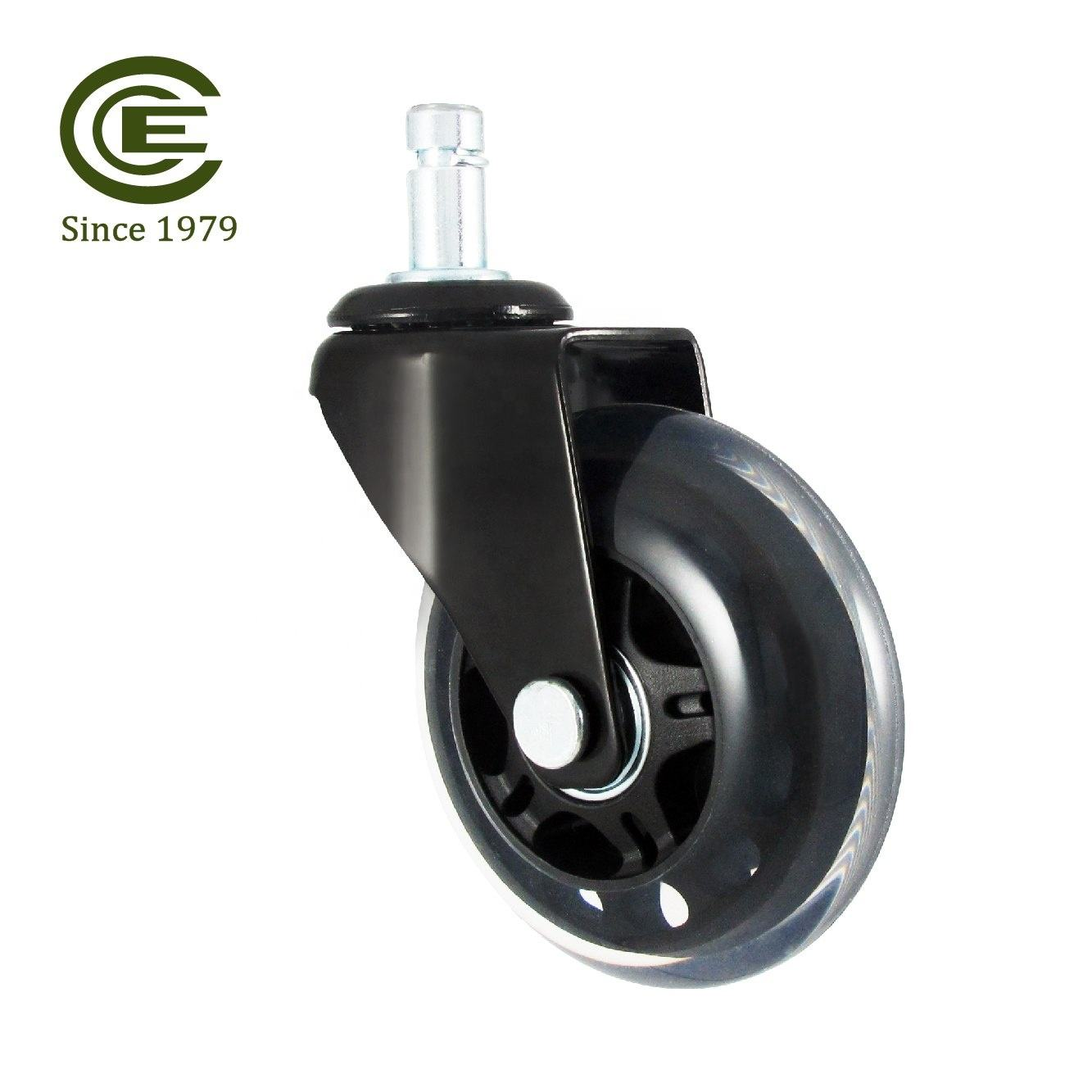 CCE Caster 2019 New Product 3 Inch PU Silent Bearings Furniture Wheels Caster