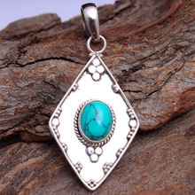Chekered Emerald Turquoise Larimar Rose quartz Onyx Moonstone Amethyst Ruby 925 sterling silver jewelry silver pendant