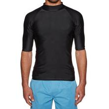 Men Short Sleeve Water Sports Swim Beach Wear UV Protection Surf Rash Guard Swim Wear Shirts